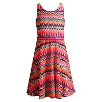 Girls 7-16 Emily West Neon Belted Crochet Knit Dress