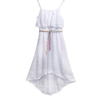 Girls 7-16 Emily West Crochet Popover Dress with Braided Belt
