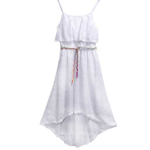 Girls 7-16 Emily West Crochet Popover Dress with Braided Belt