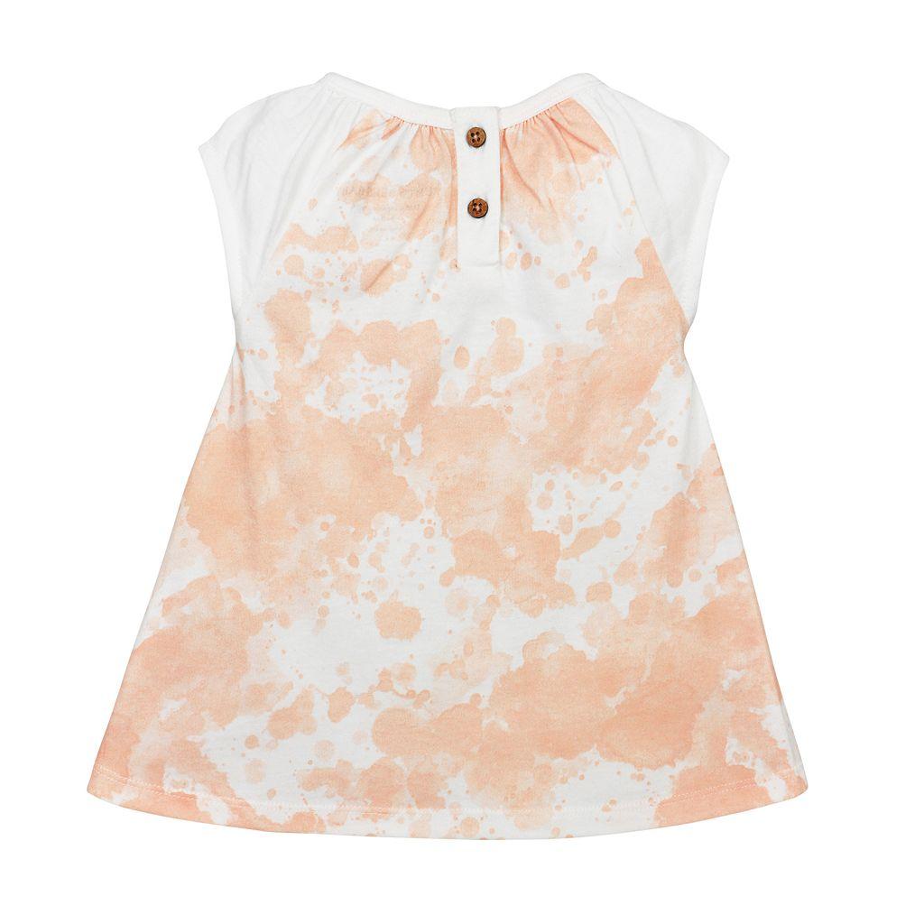Baby Girl Burt's Bees Baby Organic Splatter Dress & Bloomer Set