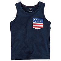 Boys 4-8 Carter's Americana Pocket Tank Top