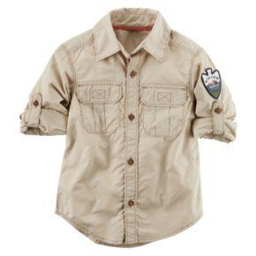 "Boys 4-8 Carter's ""Park Ranger"" Button-Front Shirt"