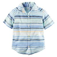 Boys 4-8 Carter's Striped Woven Button-Front Shirt