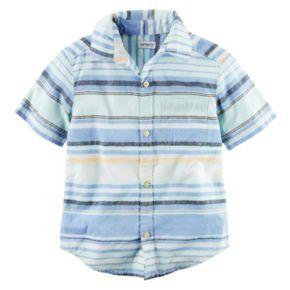 Boys 4-8 Carter's Striped Woven Button-Front Shirt