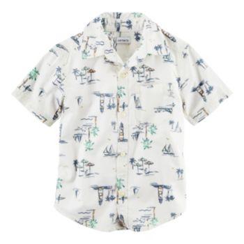 Boys 4-8 Carter's Tropical Woven Button-Front Shirt