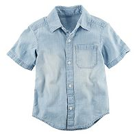 Boys 4-8 Carter's Chambray Woven Button-Front Shirt