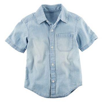 Boys 4-8 Carter's Chambray Woven Button-Front Shirt