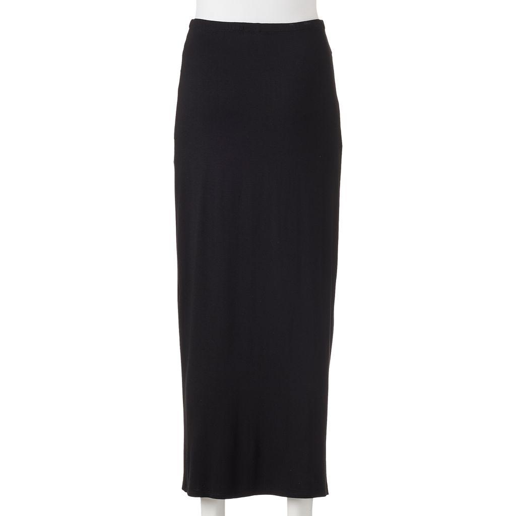 Juniors' Joe B Knot Front Maxi Skirt