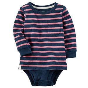Baby Boy Carter's Striped Mock-Layer Bodysuit