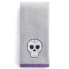 celebrate together skulls hand towel - Halloween Bath Towels
