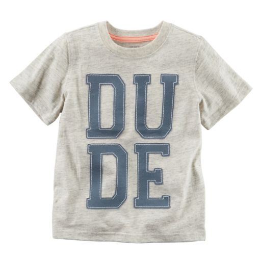 """Boys 4-8 Carter's """"Dude"""" Embroidered Tee"""