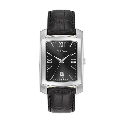 Bulova Men's Classic Leather Watch - 96B269