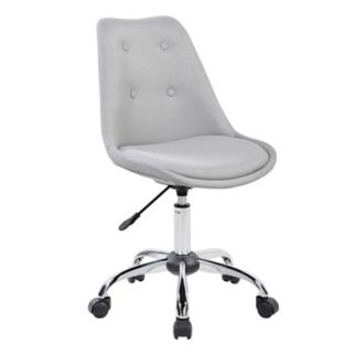 Techni Mobili Tufted Armless Desk Chair