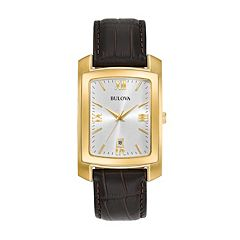 Bulova Men's Classic Leather Watch - 97B162