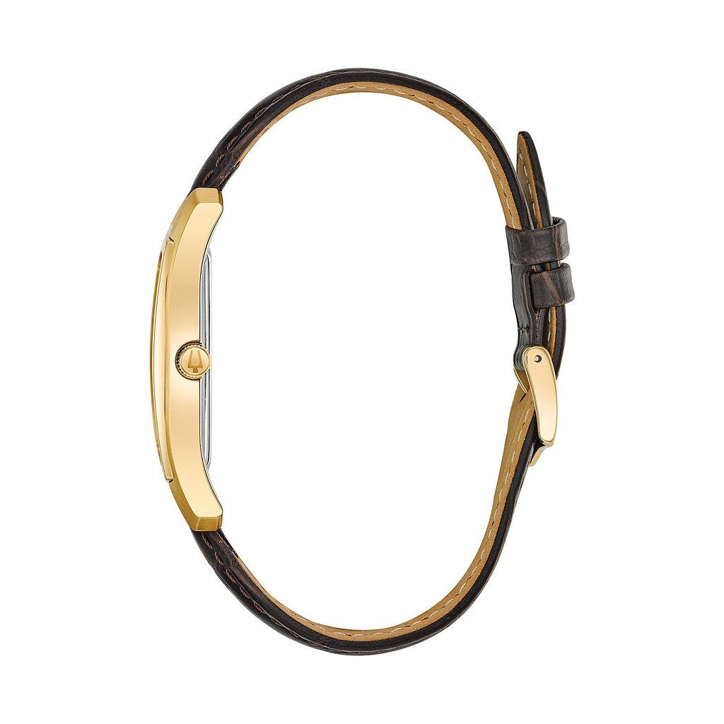 Bulova Men's Classic Leather Watch - 97B162