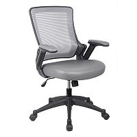 Techni Mobili Mesh Back Faux-Leather Desk Chair