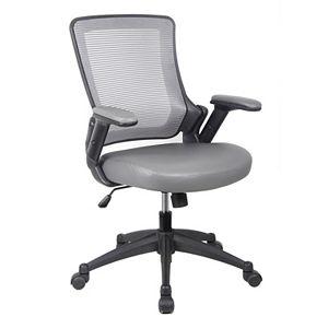 Techni Mobili Mesh Back Faux-Leather Desk Chair