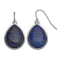 Chaps Blue Nickel Free Teardrop Earrings