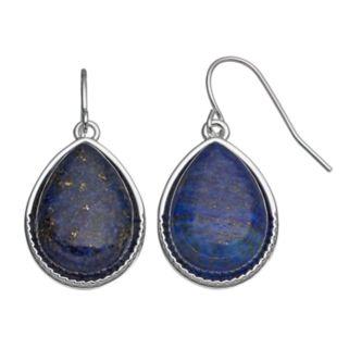 Chaps Blue Nickel Free Teardrop Earrings