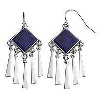 Chaps Blue Nickel Free Chandelier Earrings