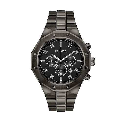 Bulova Men's Diamond Ion-Plated Stainless Steel Chronograph Watch - 98D142
