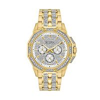 Bulova Men's Crystal Stainless Steel Watch - 98C126