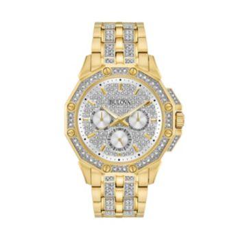 Bulova Men's Crystal Stainless Steel Watch - 98C126