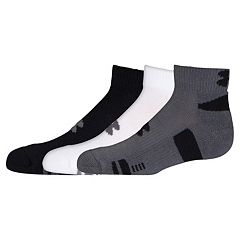 Boys Under Armour 3-Pack HeatGear Low-Cut Socks