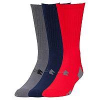 Boys Under Armour 3-Pack HeatGear Crew Socks