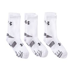 Boys Under Armour 3-Pack HeatGear Crew Socks