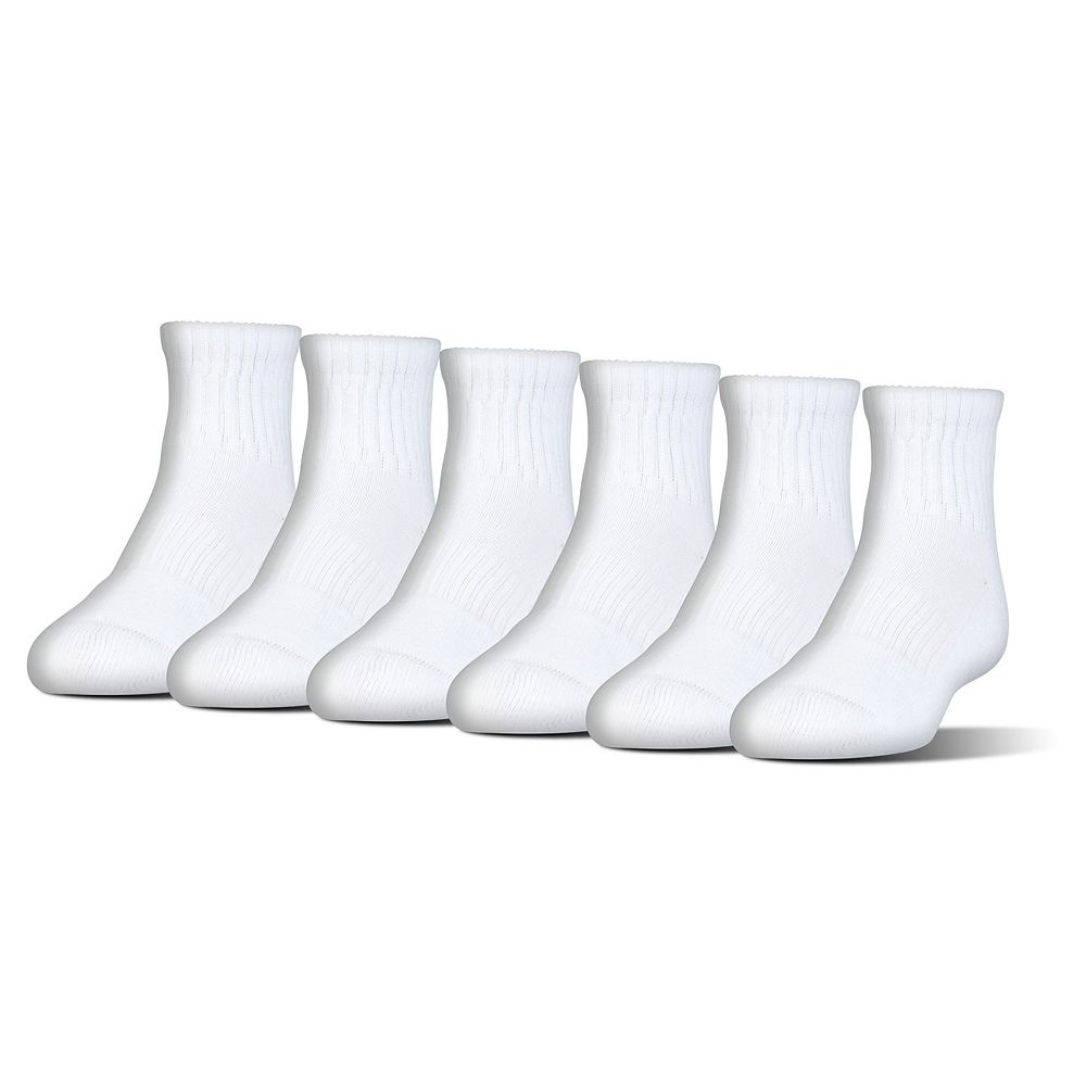 Boys Under Armour 6-Pack Quarter-Crew Socks