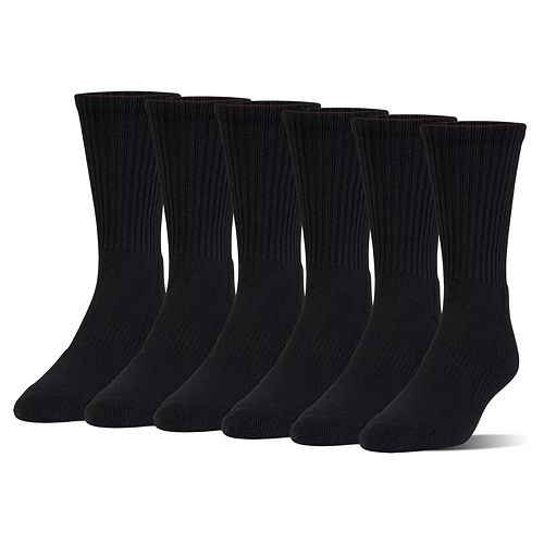 Boys Under Armour 6-Pack Quarter-Crew Socks