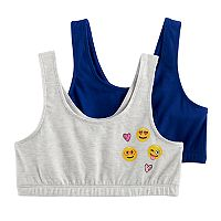 Girls 4-16 SO® 2-pk. Built-Up Sports Bra
