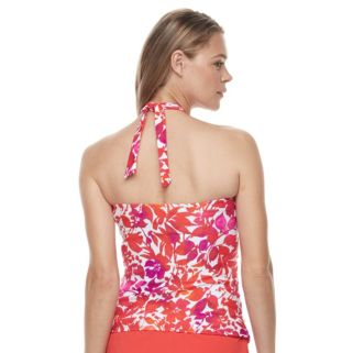 Women's Chaps Striped Halterkini Top