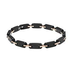 LYNXMen's Tri Tone Stainless Steel Bracelet