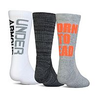 Boys Under Armour 3-Pack Crew Socks