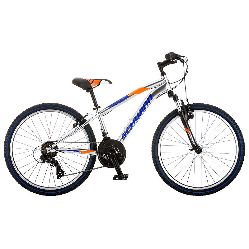 Boys Schwinn High Timber 24-Inch Mountain Bike, Silver -  S2448C