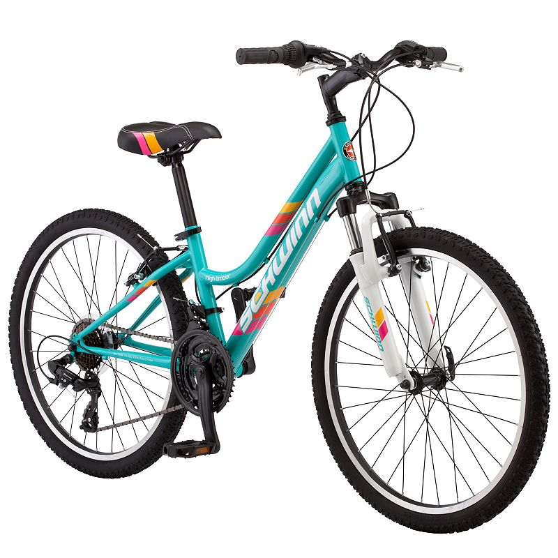 Girls Schwinn High Timber 24-Inch Mountain Bike, Blue Other -  S2449C