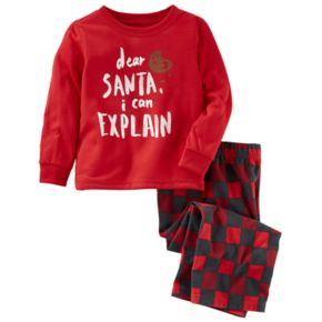 "Boys 4-14 OshKosh B'gosh ""Santa I can Explain"" 2-Piece Pajama Set"