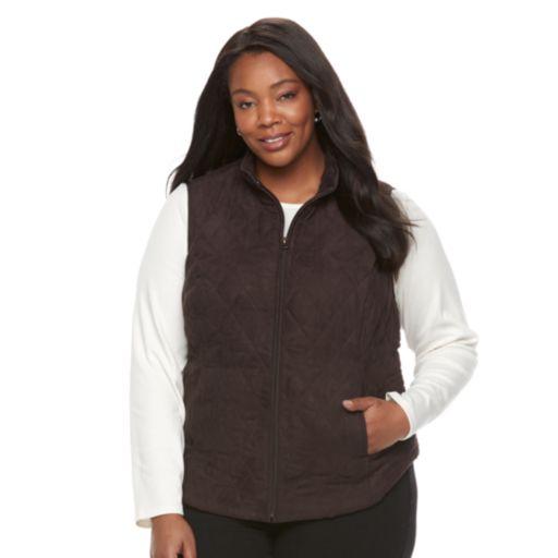 Plus Size Croft & Barrow® Quilted Vest