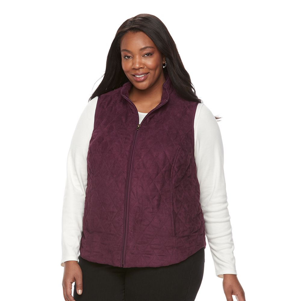 Size Croft & Barrow® Quilted Vest