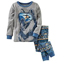 Boys 4-14 OshKosh B'gosh Snowboard 2 pc Pajama Set