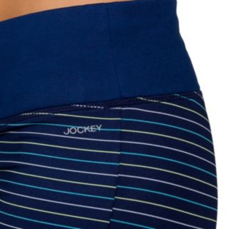 Women's Jockey Sport Go Stripe Lattice Capri Leggings