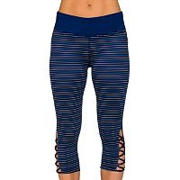Women's Jockey Sport Go Stripe Lattice Capri Leggings