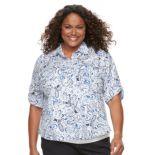 Plus Size Croft & Barrow® Roll-Tab Shirt