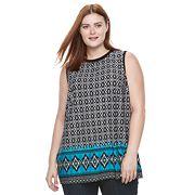 Plus Size AB Studio Printed Knit Tank
