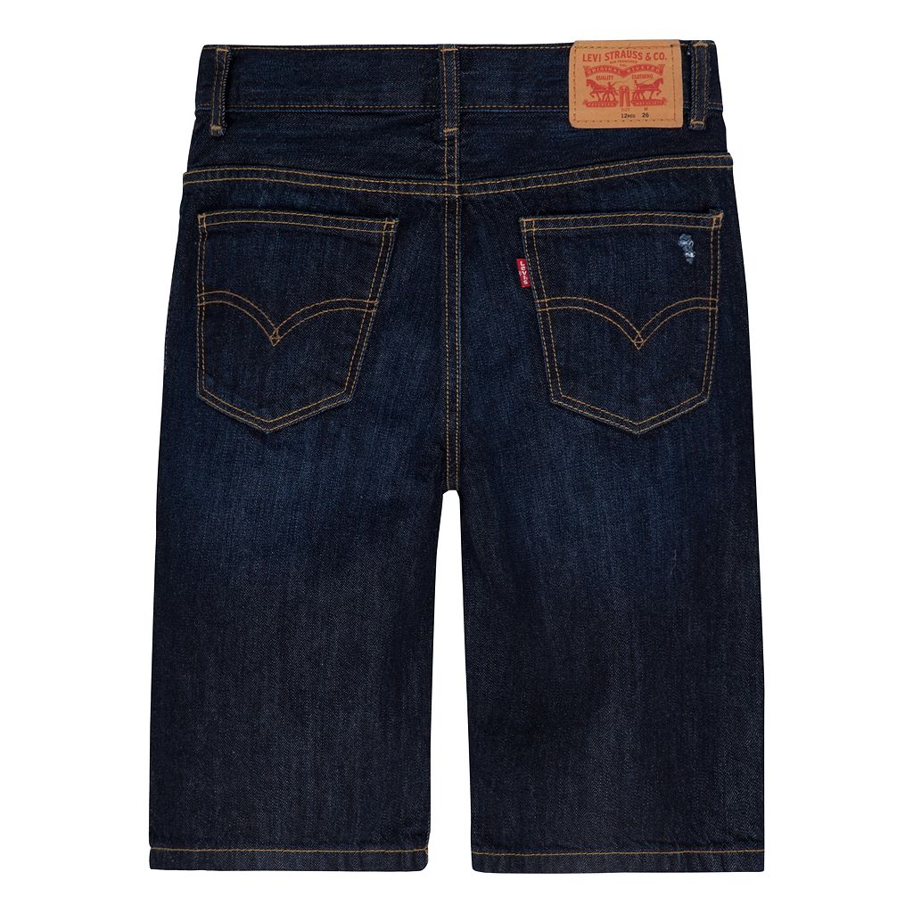 Boys 4-7x Levi's® Distressed Dark Denim Shorts