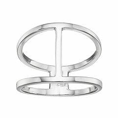 PRIMROSE Sterling Silver Openwork Geometric Ring