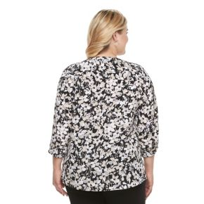 Plus Size Croft & Barrow® Crepe Button-Down Shirt