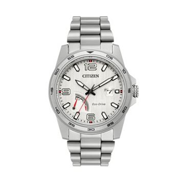 Citizen Eco-Drive Men's PRT Power Reserve Stainless Steel Watch - AW7031-54A